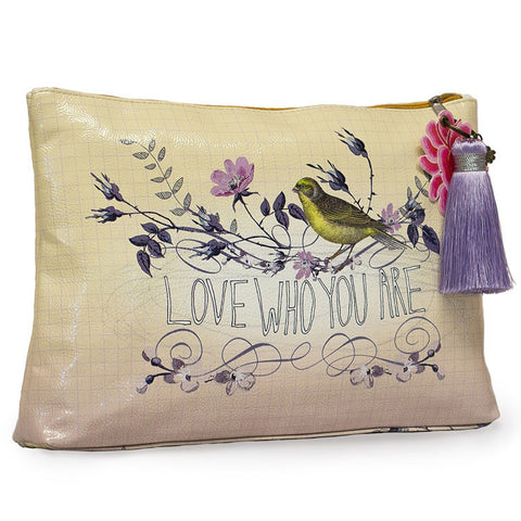 "Large Accessory Pouch ""Floral Love Who You Are""