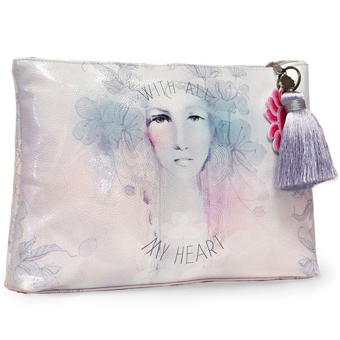 "Large Accessory Pouch With all my Heart|Grande Pochette ""With all my Heart"""