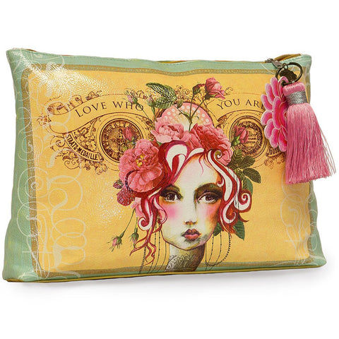 "Large Accessory Pouch ""Rose""