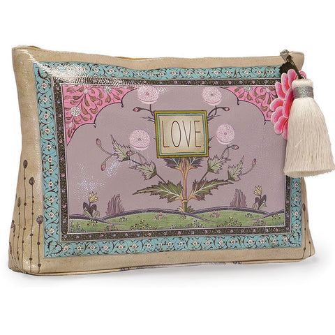 "Large Accessory Pouch ""Love Feather""