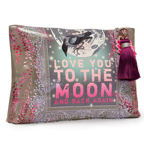 "Large Accessory Pouch ""Moon and Back""