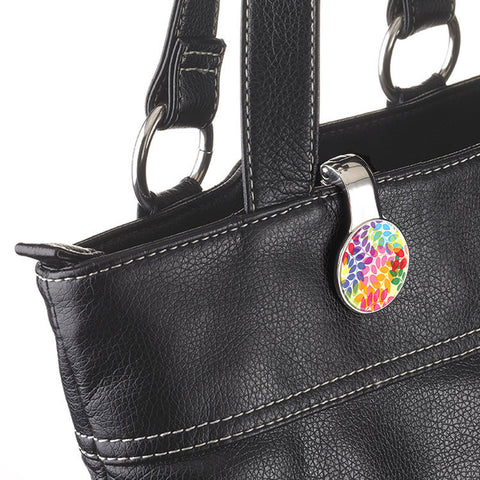 "Handbag Holder and Clip ""Colorful Leaves""