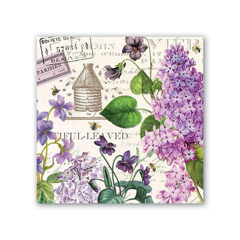 """Lilac and Violets"" Luncheon Napkins