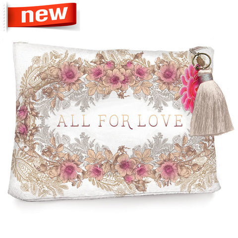 "Large Accessory Pouch ""All for Love""