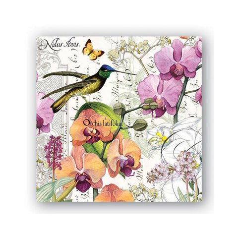 "Orchids in Bloom Luncheon Napkins|Serviettes de table ""Orchids in Bloom"""