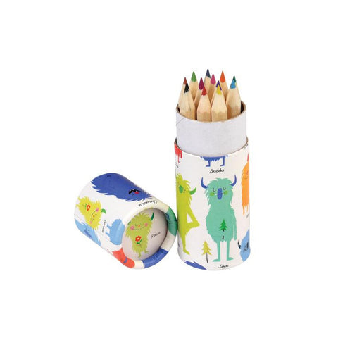 "Set of 12 Colored Pencils ""Monsters of the World""