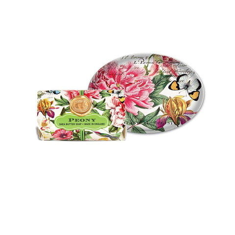 "Large Bath Soap Bar ""Peony""
