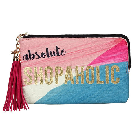 "Zip Purse ""Shopoholic""