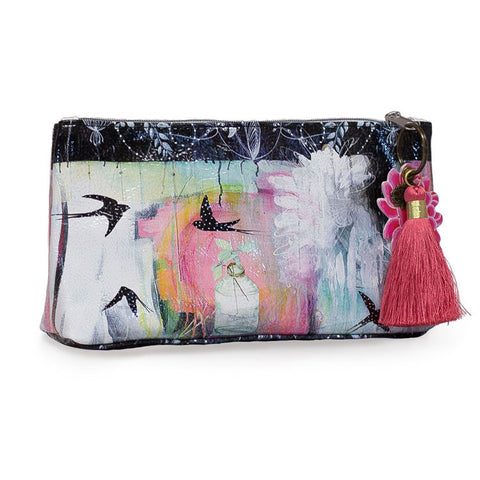 "Small Accessory Bag ""Swallows""
