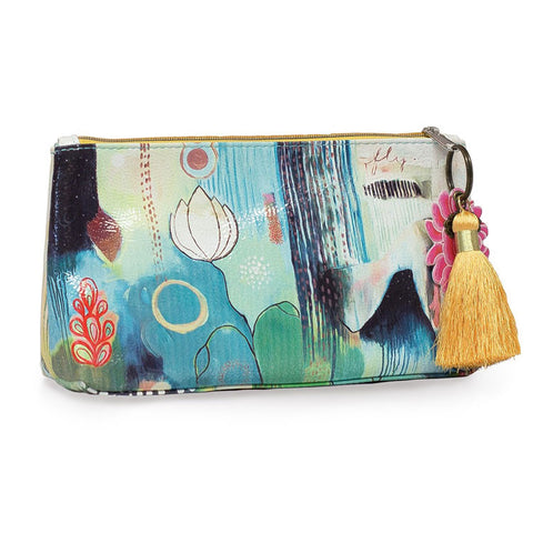 "Small Accessory Bag ""Flora Bird""