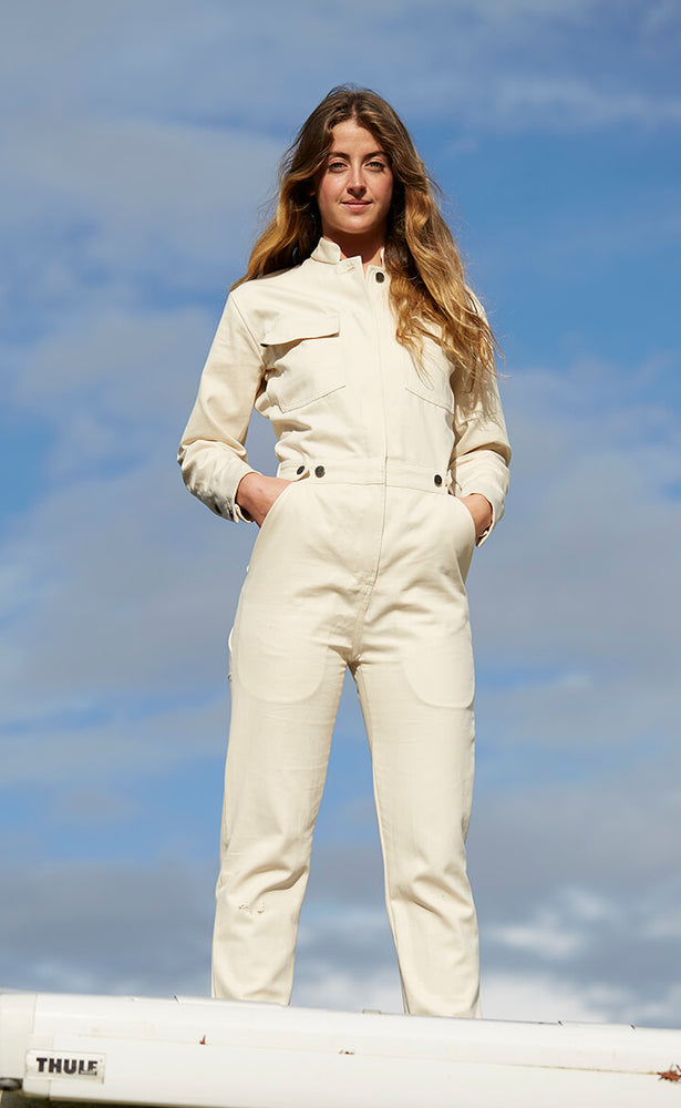Ecru Cotton Boiler Suit