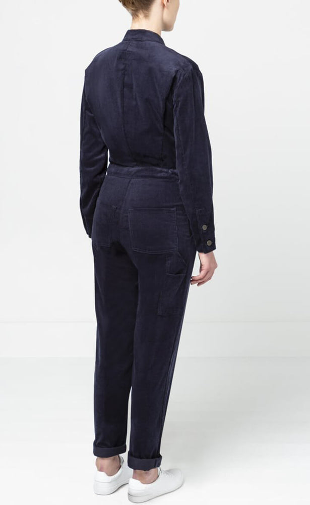 Navy Needlecord Boiler Suit