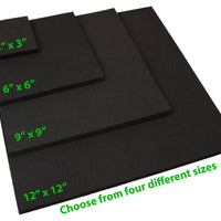 "XCEL Craft Foam Pads Furniture Pads Acoustic Studio Squares 12""x12""x3/8"" (4 pcs)"