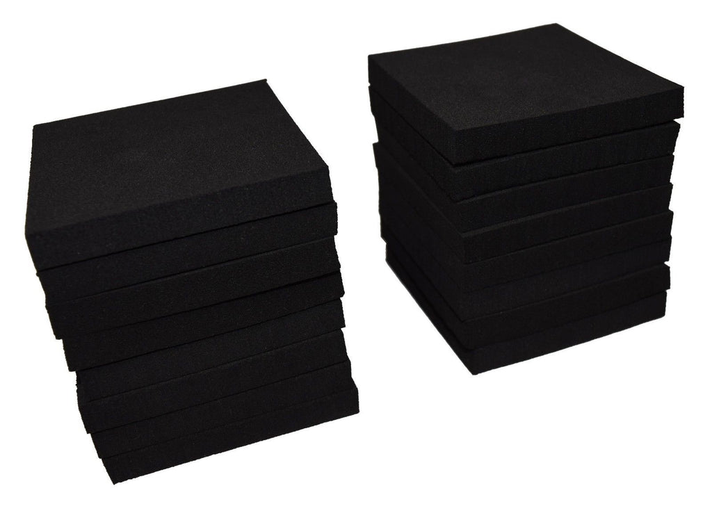 "XCEL Craft Foam Pads Furniture Pads Acoustic Studio Squares 3""x3""x3/8"" (16 pcs)"