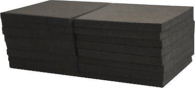 XCEL Foam Rubber Pads Acoustic Damper Anti-Vibration Pads 16 pieces, 3