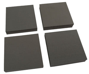 "XCEL Heavy Duty Equipment Pads 4"" x 4"" x 3/4"" Thick (Set of 4)"