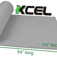 XCEL Extra Soft Cosplay Craft Foam Roll, Grey, Size 54 Inch x 12 Inch x 1/4 Inch
