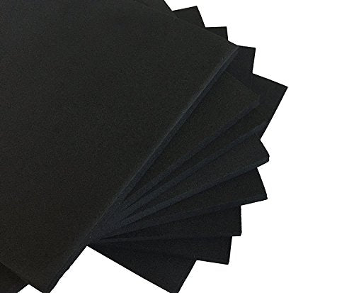 "XCEL Foam Rubber Padding Acoustic Damper Anti-Vibration Closed-Cell Pads 6"" x 6"" x 1/4"" (16 Pieces)"