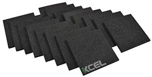 "XCEL Acoustic Insulation Sound Dampening Studio Pads 6"" x 6"" x 1/2"" (Pack of 16)"