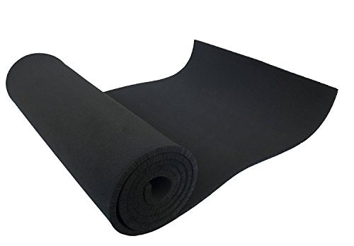 "XCEL 54"" in. Wide x 1'ft. Length x 1/4"" Thick Soft/Medium Neoprene Sponge Foam Rubber Sheets for Cosplay Armor, DIY Projects, and Gaskets, 2 Pack"