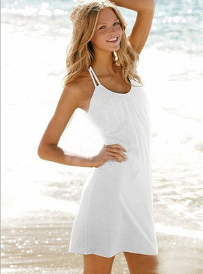 Gathered Neck Beach Dress