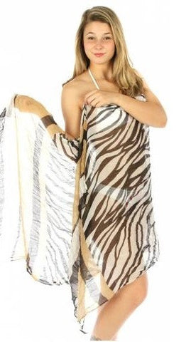 Zebra Wrinkle Beach Wrap