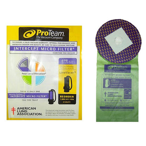 ProTeam 100291 10 qt Closed Collar Bags (10PK)