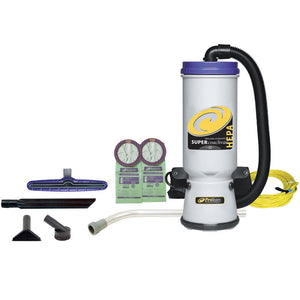 ProTeam 107109 Super CoachVac HEPA 10 qt. w/ Xover Multi-Surface 2 pc wand or telescoping wand kit