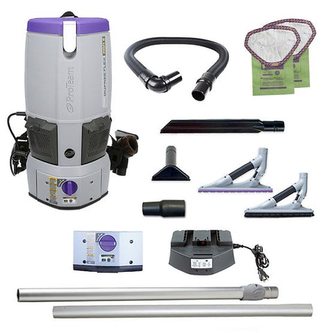 ProTeam 107645 GoFree Flex Pro II, 12 AH Cordless Backpack Vacuum W/ 107532 Kit