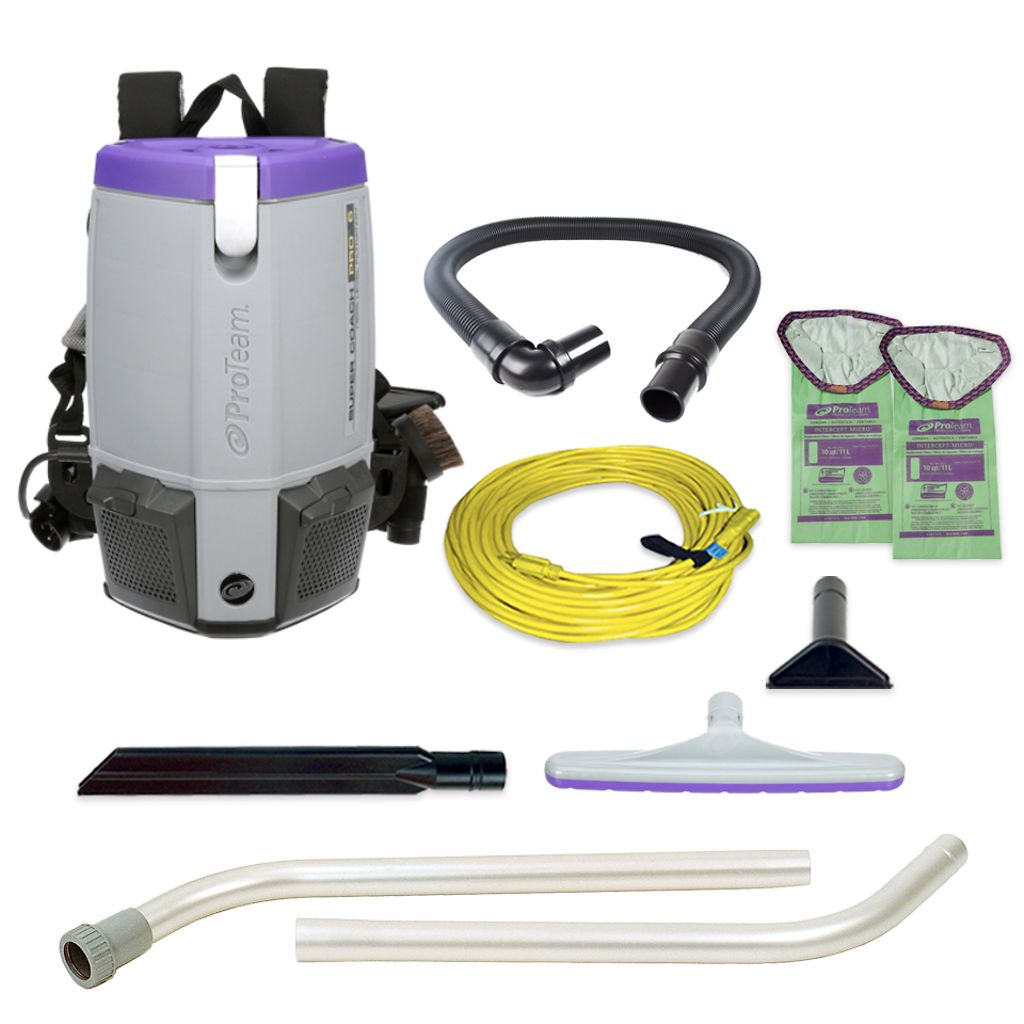 ProTeam 107308 Super Coach Pro 6 HEPA Backpack Vacuum