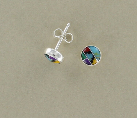 Sterling Silver Aztec Stud earrings