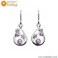 Silver Amethyst and Blue Topaz Drops Kit Heath