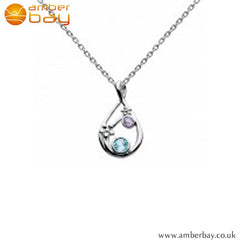 Silver Amethyst and Blue Topaz Pendant Kit Heath