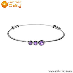 Silver and Amethyst Slave Bangle Kit Heath