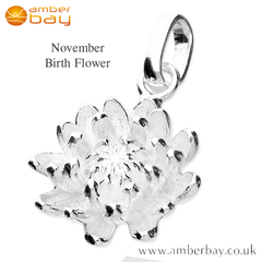 November Chrysanthemum Pendant