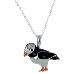 Reeves and Reeves Puffin Necklace Amber Bay