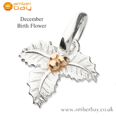 December Holly Pendant