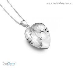 Sea Gems Sterling Silver Lily Pendant
