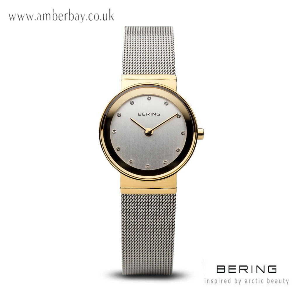 Bering Ladies Mesh Gold Colour Watch 10122-001