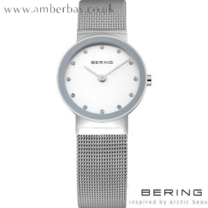 Bering Ladies Swarovski and Mesh Strap Watch 10126-000