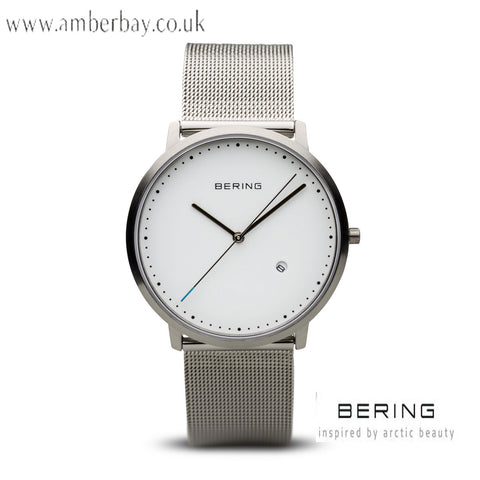 Bering Gents Stainless Steel Mesh Date Watch 11139-004
