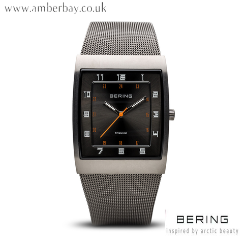 Bering Gents Black Face Titanium Watch 11233-077