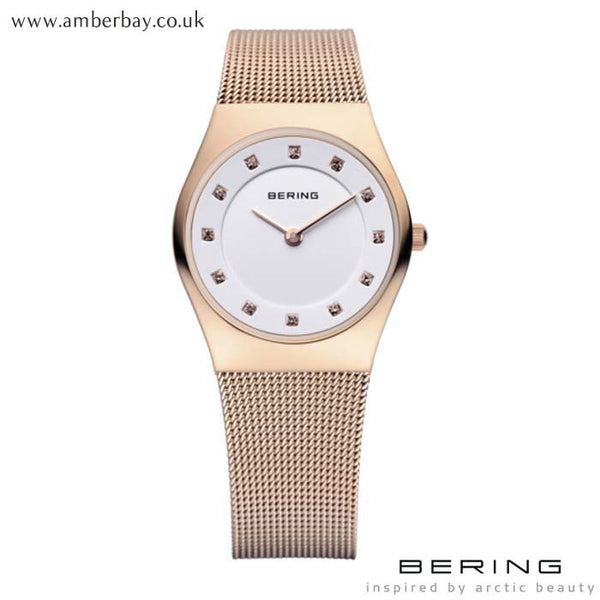 Ladies Bering Rose Gold Watch 11927-366 at Amber Bay