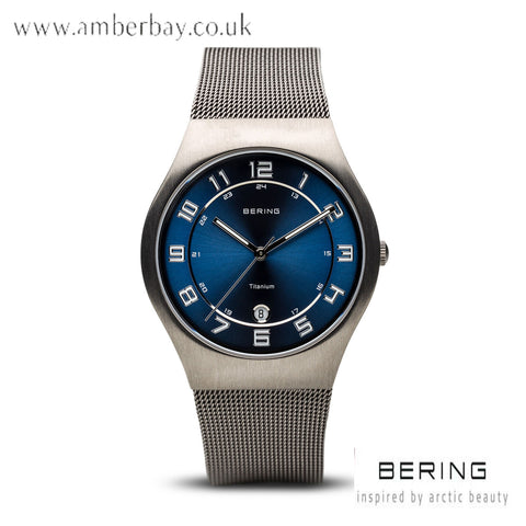 Bering Gents Stainless Steel Mesh Watch 11937-078