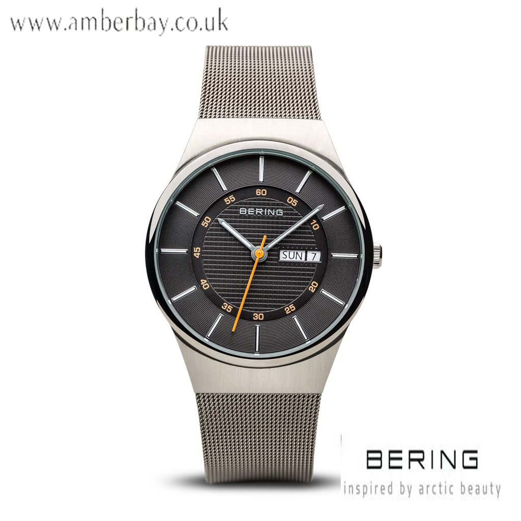 Bering Gents Stainless Steel Day/Date Watch 12939-077
