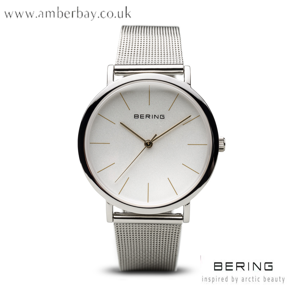 Bering Ladies Stainless Steel Milanese Watch 13436-001