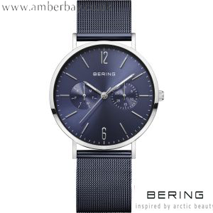 Bering Ladies Blue Milanese Watch 14236-303