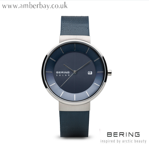 Bering Gents Solar Blue Milanese Watch 14639-307