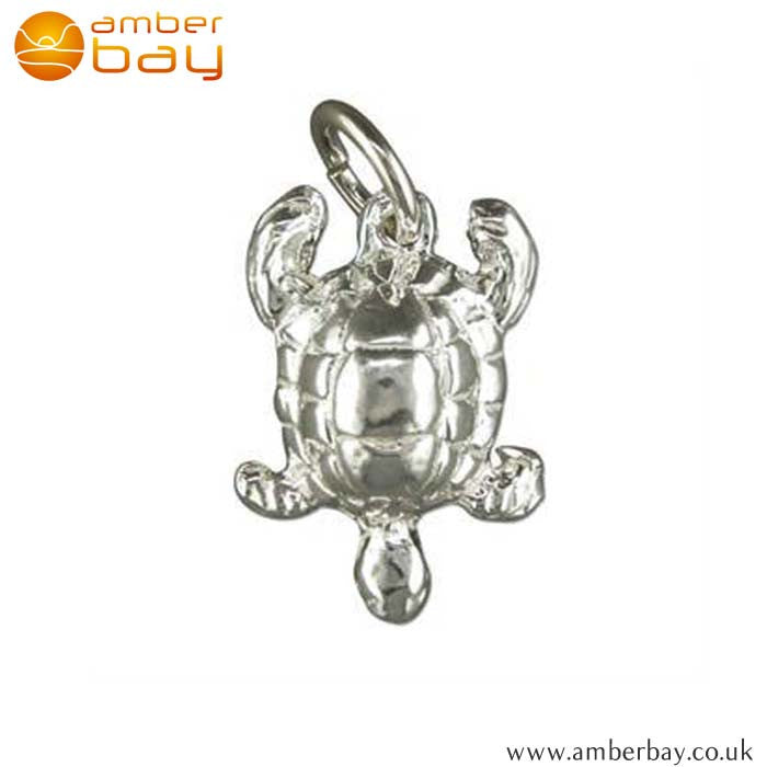 Sterling Silver Turtle Charm/Pendant 2616 at Amber Bay