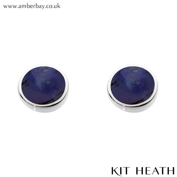 Silver Lapis Studs 3060LP Kit Heath at Amber Bay